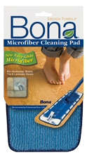 Microfiber cleaning pad for use with the Bona Hardwood Floor Mop, Microfiber Floor Mop, and Bona Hardwood and Stone, Tile & Laminate Floor Care Systems.